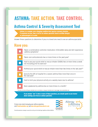 Asthma Severity Assessment Tool