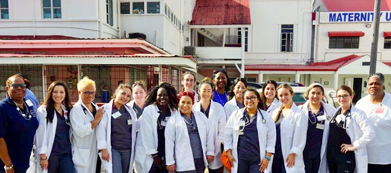 Group photo of medical professionals in Guyana