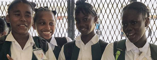 Guyanese students who benefited from asthma screening and education.