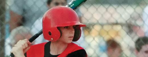 10-year-old Sean Farley in Little League