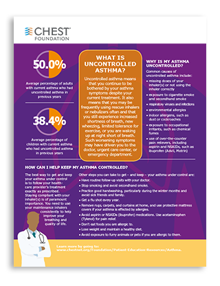 Uncontrolled Asthma Infographic