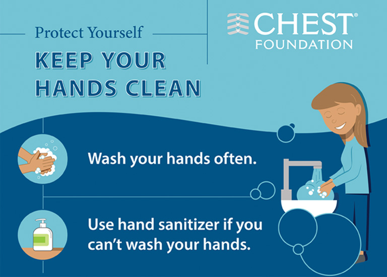 Keep you hands clean infographic