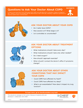Questions to ask your doctor about COPD infographic