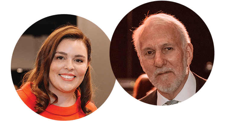 Jill and Gregg Popovich